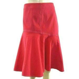 Lauren Jeans Co Ralph Lauren Canvas Flutter Skirt